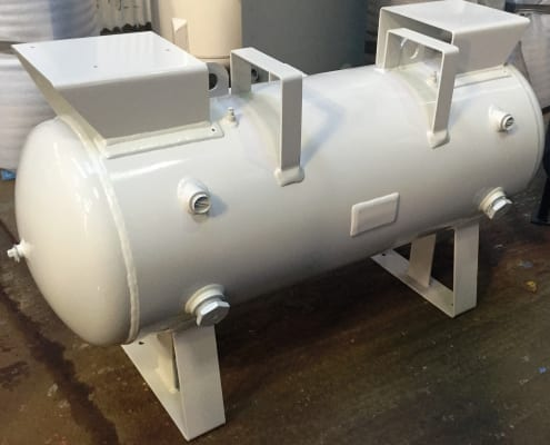 Horizontal Vacuum Vessel with saddle plates