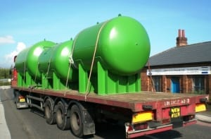 Surge Pressure Vessels on lorry